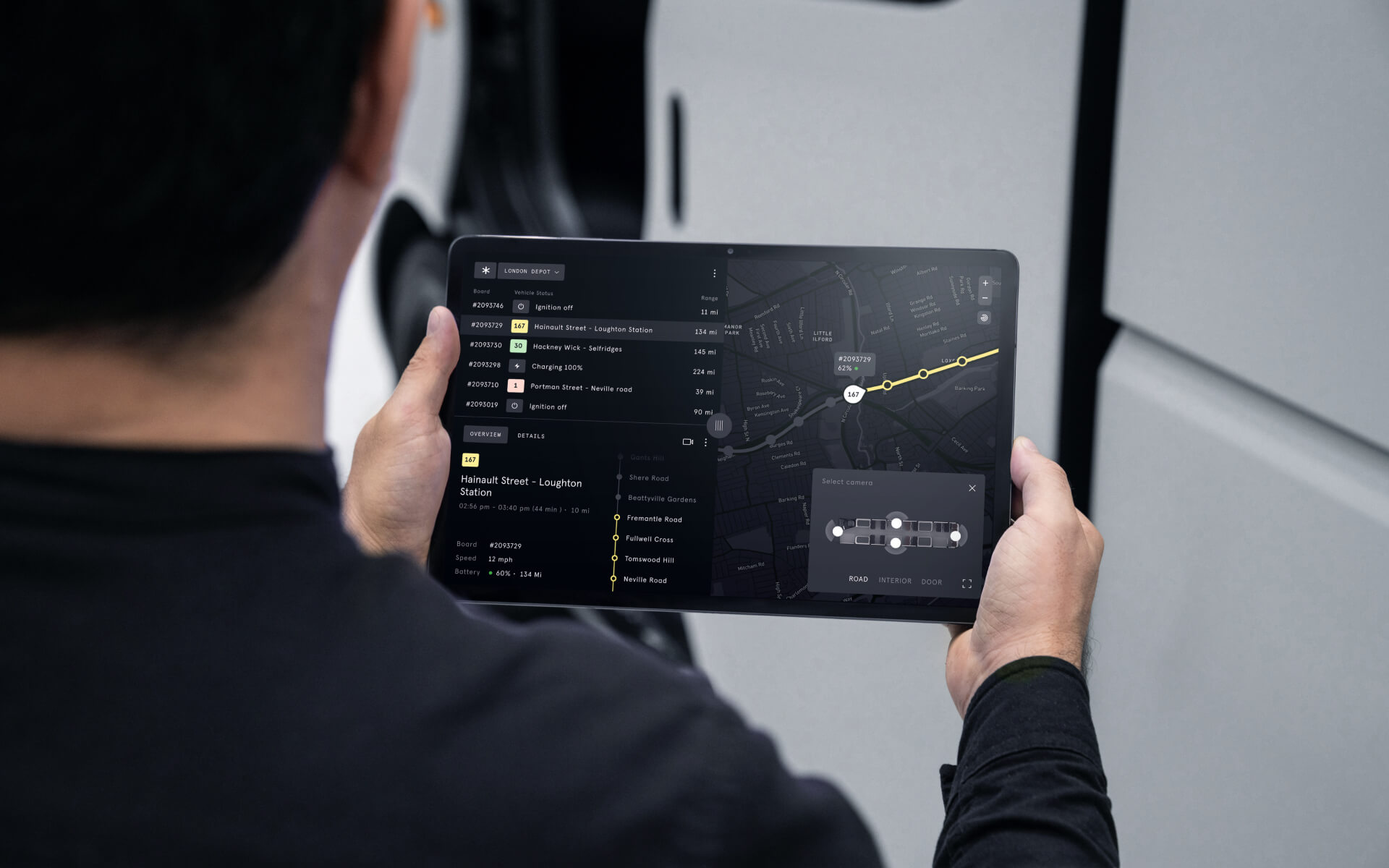 Tablet with digital product display
