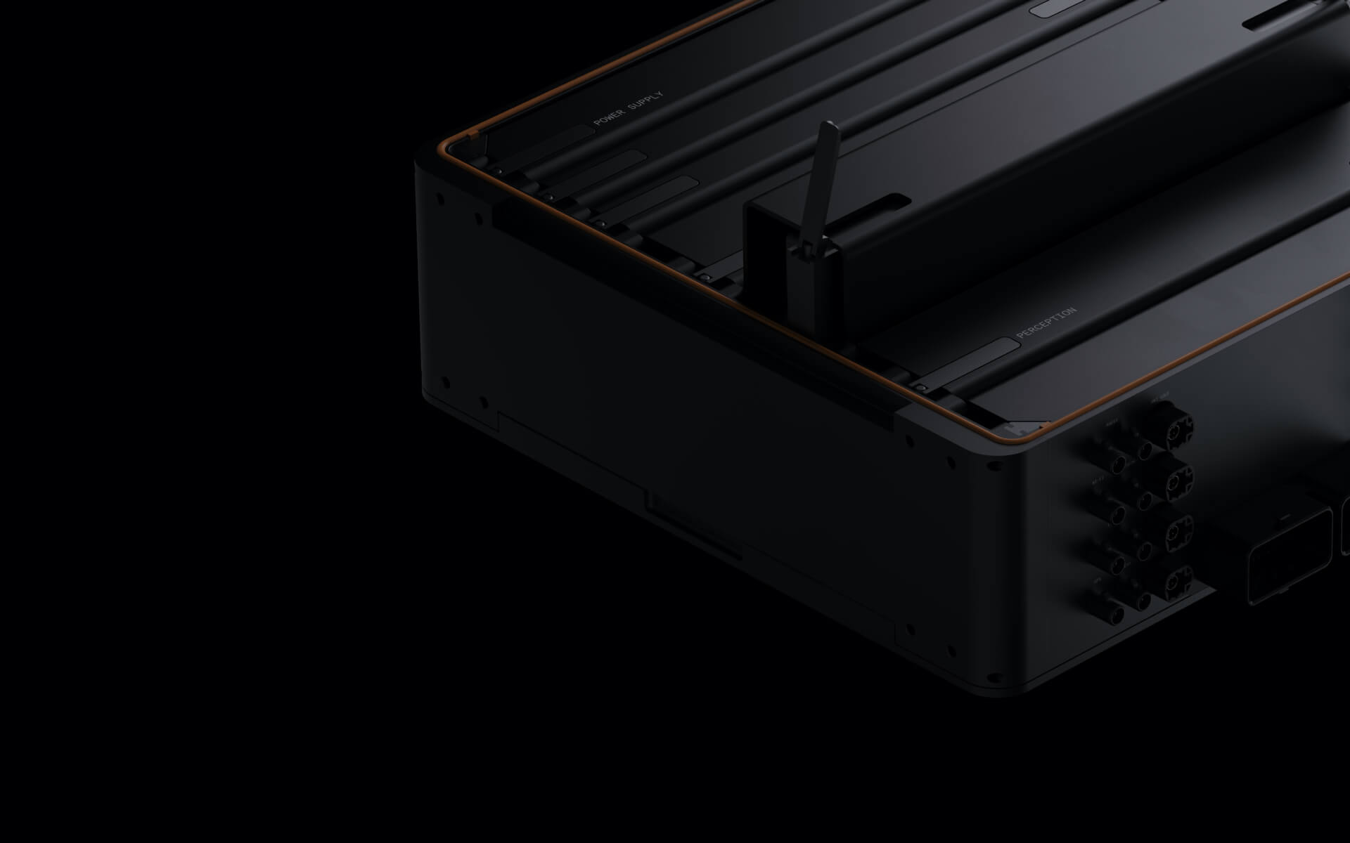 Black Arrival Unified Computing Platform (UCP) Device on a Dark Background